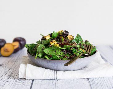Spinat, quinoa blommesalat_1